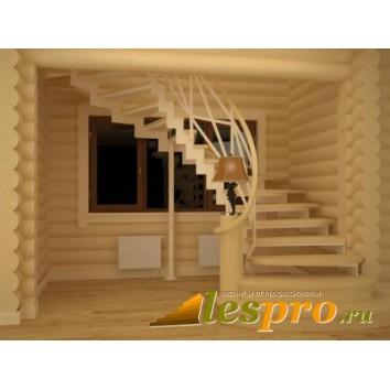 Проект лестницы на металокаркасе