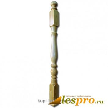 Столб декоративный Два кольца №3 80х80 Сосна