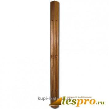 Балясина Квадратная с фрезеровкой №27 50х50х900 Дуб