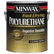 MINWAX fast-drying polyurethane clear satin 1 gallon (полуматовый полиуритановый лак 3.78 л)
