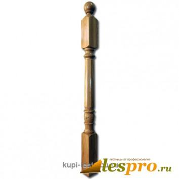 Столб декоративный Бавария с резьбой №25 80х80 Дуб