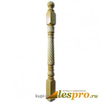 Столб декоративный Тюльпан с фрезеровкой №7 80х80 Сосна