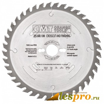 CMT (для Makita торцовка 10-13) крепёжное 30 мм Z 60 285.060.11М