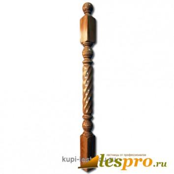 Столб декоративный Витой №7 80х80 Дуб