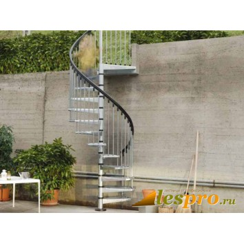 Винтовая лестница Civik Zink (оцинкованная) d-140