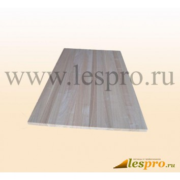Щит мебельный цельноламельный 18(20)*600*1600 мм, ясень