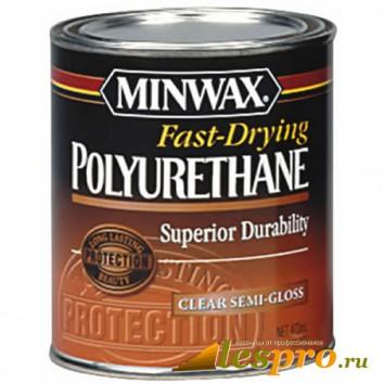 лак для дерева Minwax Fast-Drying (полуглянцевый)(0.946л)