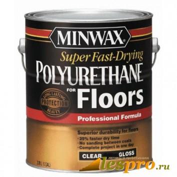 лак Minwax Super Fast-Drying (полуглянцевый)(3.78л)